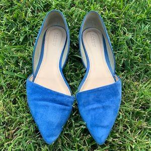 •J.Crew• Blue Leather Upper Flat Shoes